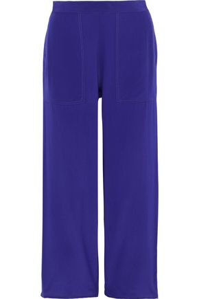 VANESSA BRUNO Galien cropped silk wide-leg pants