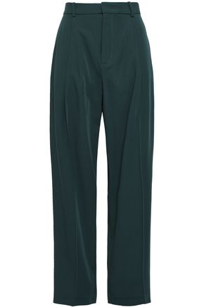 JOSEPH Virgin wool-gabardine wide-leg pants
