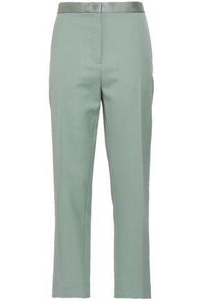 JOSEPH Zod cropped wool grain de poudre slim-leg pants