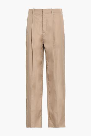 JOSEPH Cotton-poplin wide-leg pants