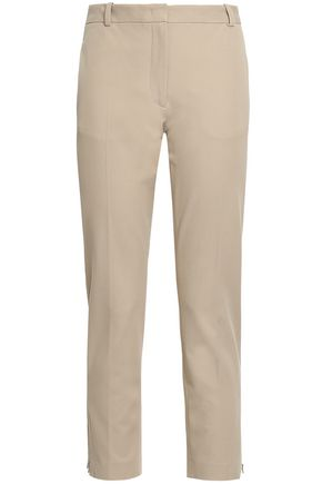 JOSEPH Cropped cotton-blend twill slim-leg pants