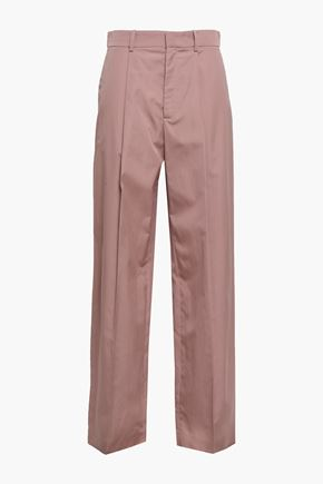 JOSEPH Cotton-poplin wide-leg pants