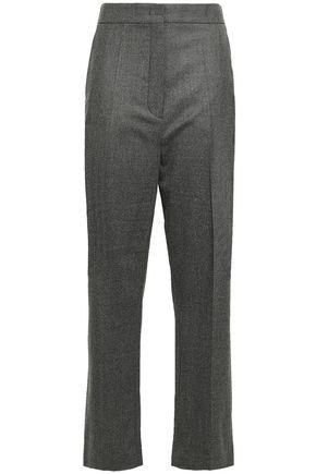 JOSEPH Wool-blend flannel wide-leg pants