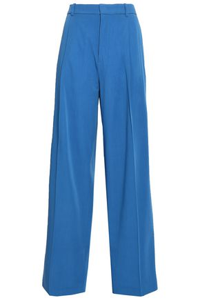 JOSEPH Pleated virgin wool-gabardine wide-leg pants
