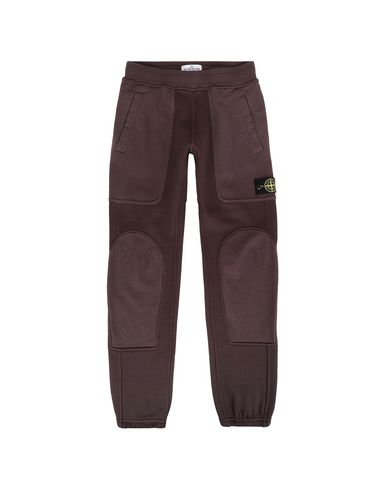STONE ISLAND JUNIOR Fleece Trousers Man 62643 f