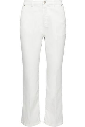 MAX MARA Scozia cropped cotton-blend twill bootcut pants