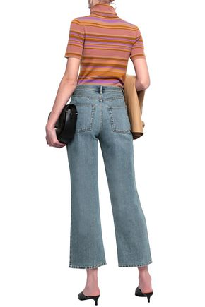 ACNE STUDIOS Cropped faded high-rise flared jeans