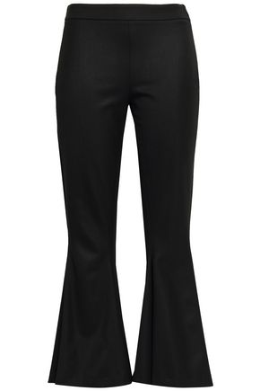 MARCO DE VINCENZO Wool-blend twill kick-flare pants