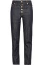 JOSEPH Den button-detailed high-rise straight-leg jeans