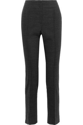 JASON WU Frayed wool-blend slim-leg pants