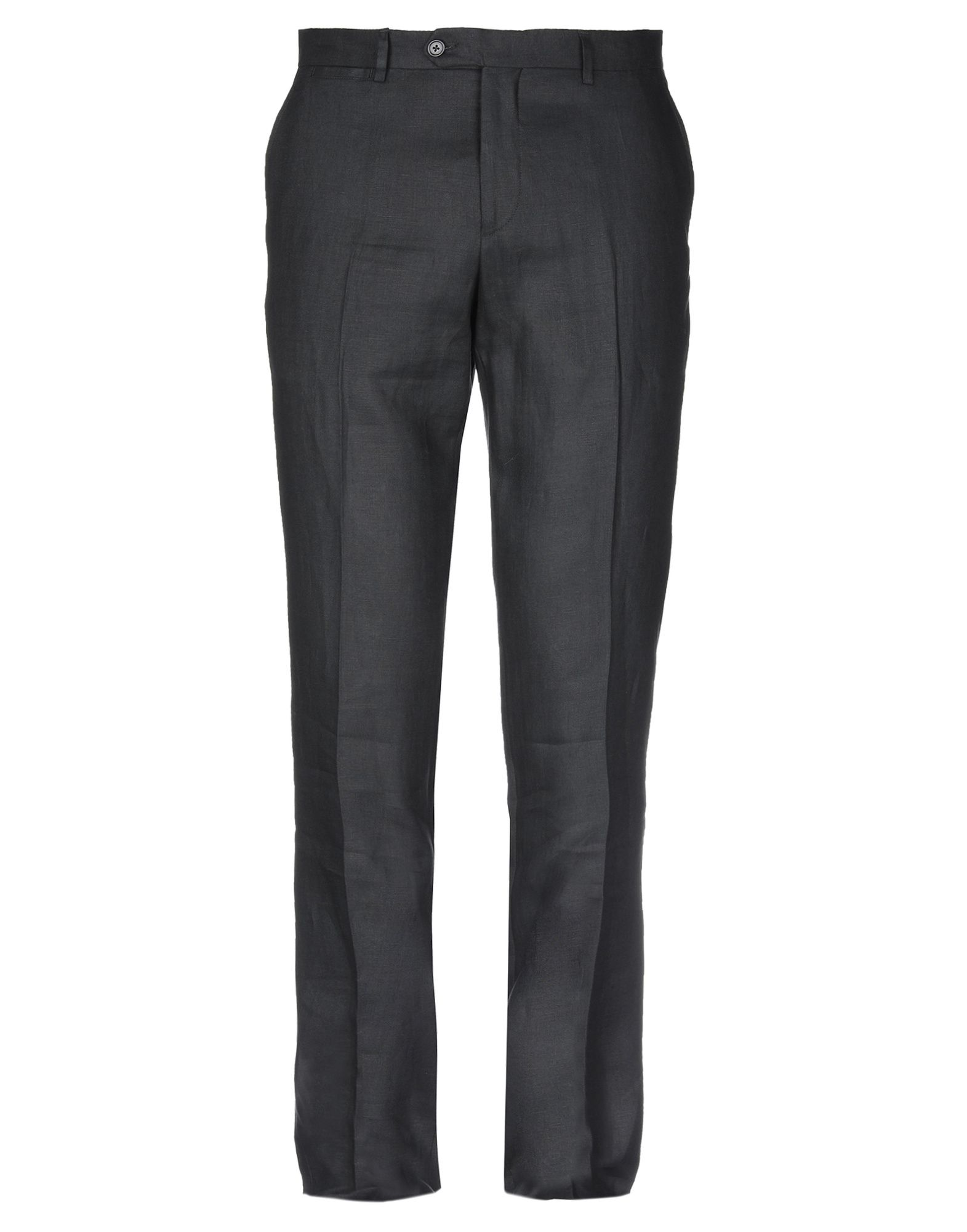《送料無料》LES COPAINS メンズ パンツ ブラック 50 麻 100%