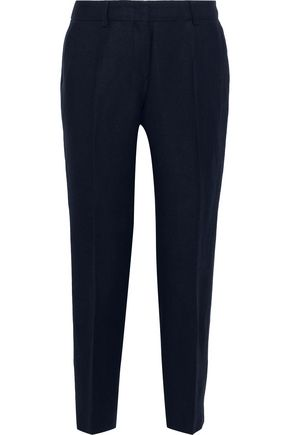 MAX MARA Nigeria cropped linen-blend twill tapered pants