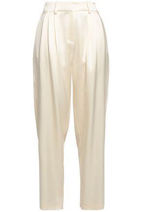 MAGDA BUTRYM Jena pleated silk-satin tapered pants
