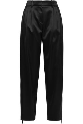 MAGDA BUTRYM Jena silk and wool-blend flared pants