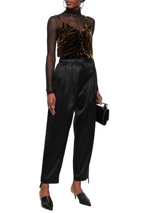 MAGDA BUTRYM Jena silk and wool-blend flared pants
