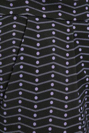 EMPORIO ARMANI Printed crepe straight-leg pants