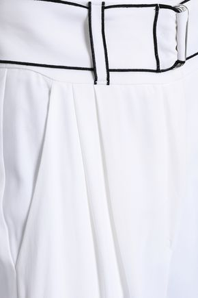 EMPORIO ARMANI Belted crepe tapered pants