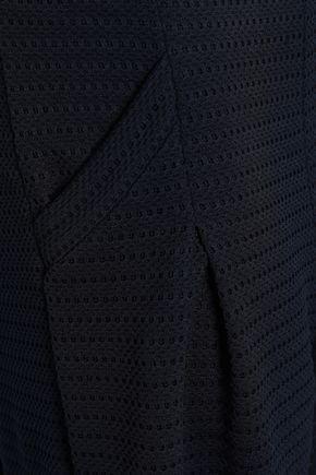 EMPORIO ARMANI Pointelle-knit wide-leg pants