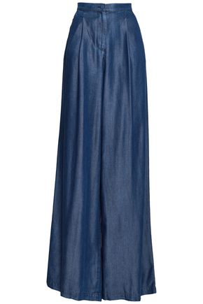 EMPORIO ARMANI Chambray wide-leg pants