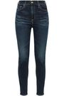 AG JEANS Faded high-rise skinny jeans