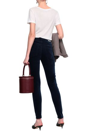 AG JEANS Cotton-blend velvet skinny pants