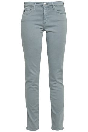 AG JEANS Brushed cotton-blend twill slim-leg pants