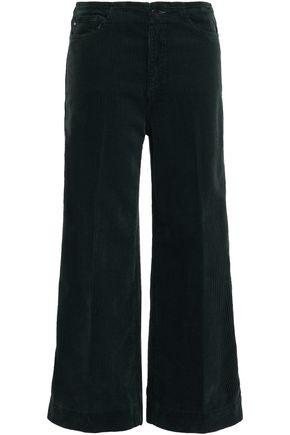 AG JEANS Cropped cotton-corduroy wide-leg pants