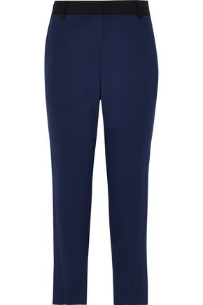 DIANE VON FURSTENBERG Robbie cropped stretch-wool straight-leg pants