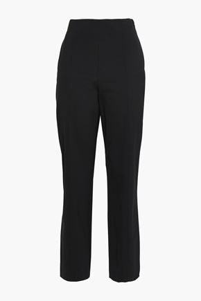 TORY BURCH Cropped wool-blend straight-leg pants