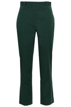 JOSEPH Cotton-blend twill slim-leg pants