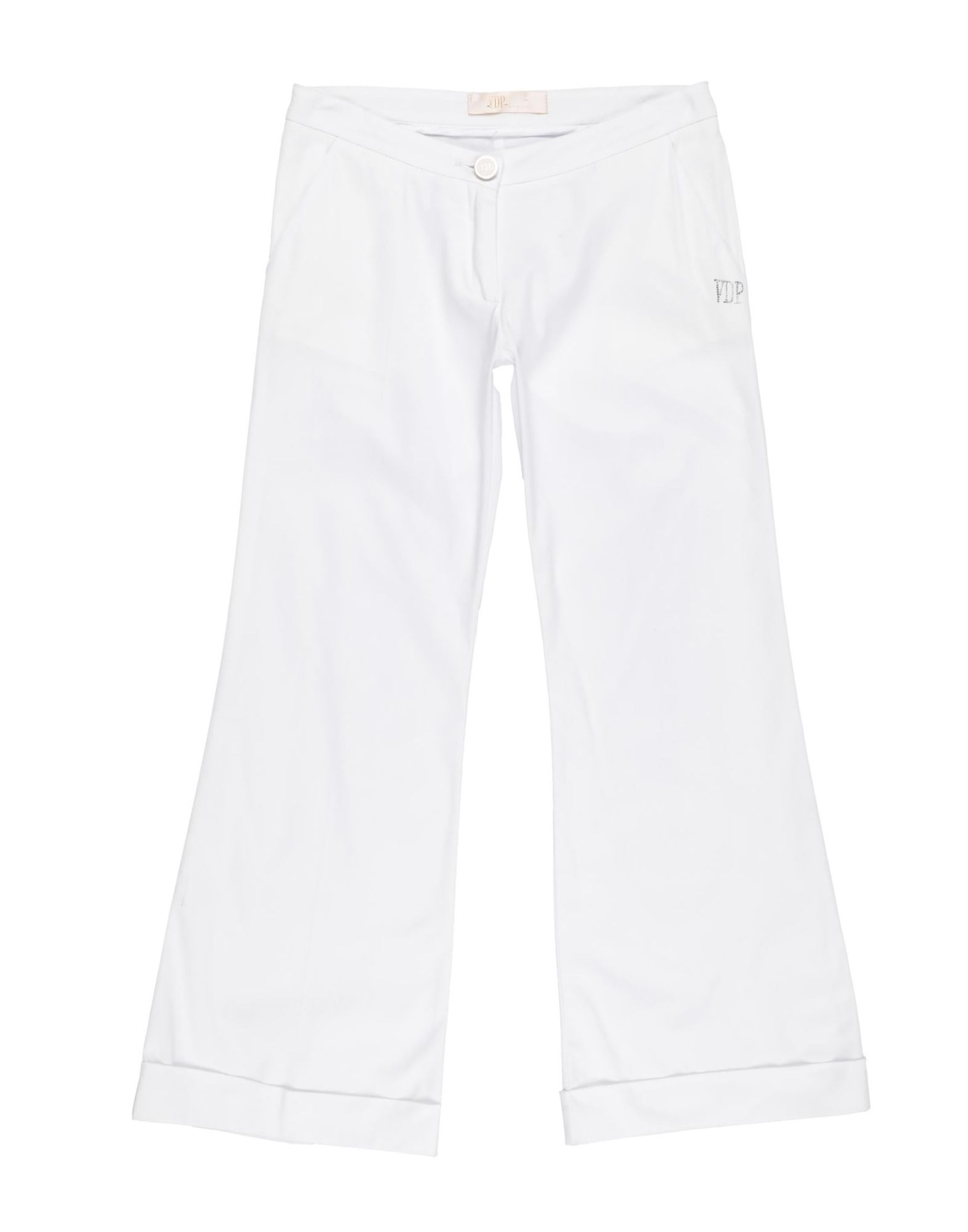 Vdp Collection Kids' Casual Pants In White
