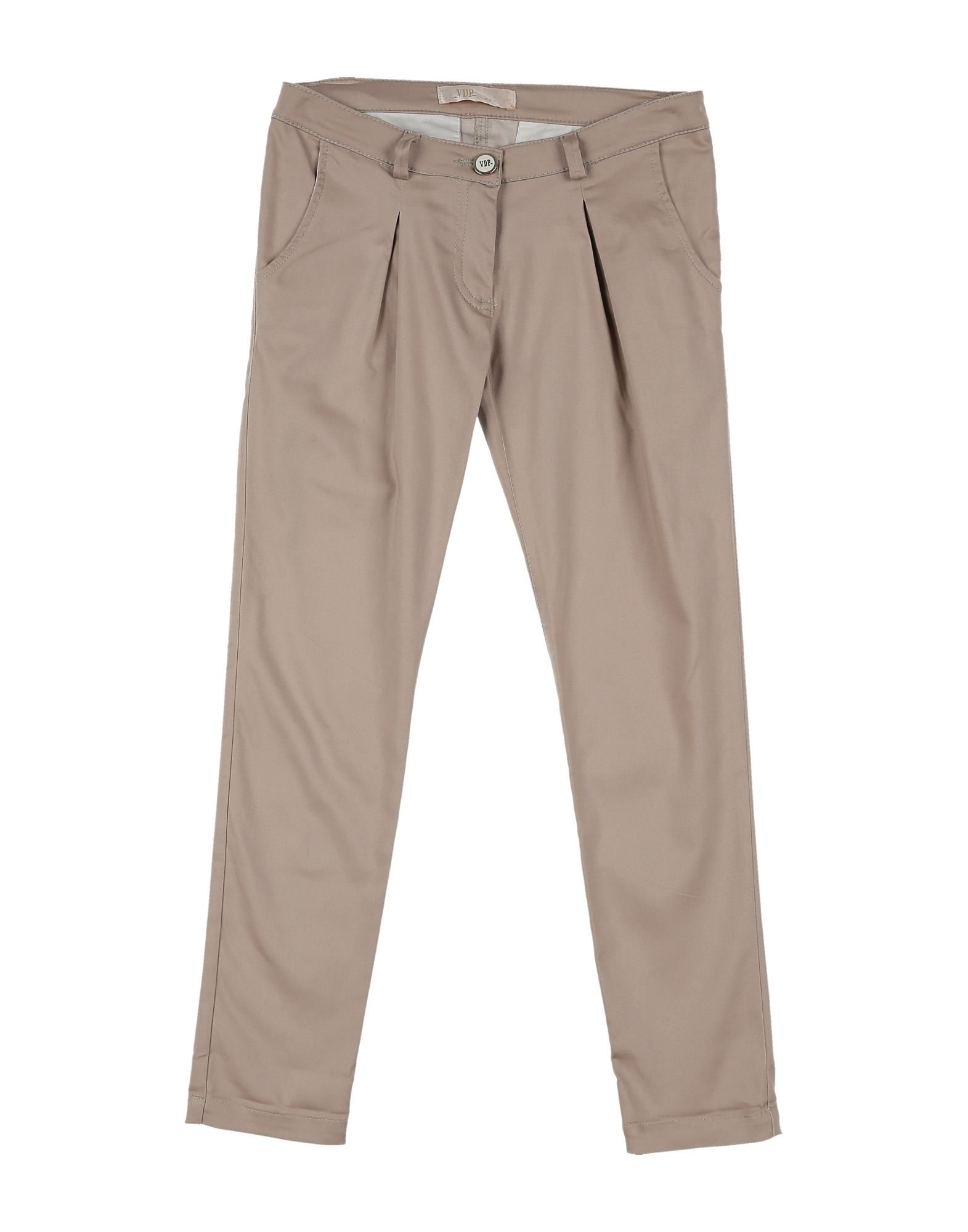 Vdp Collection Kids' Casual Pants In Brown