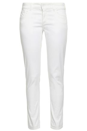 EMPORIO ARMANI Stretch-cotton slim-leg pants