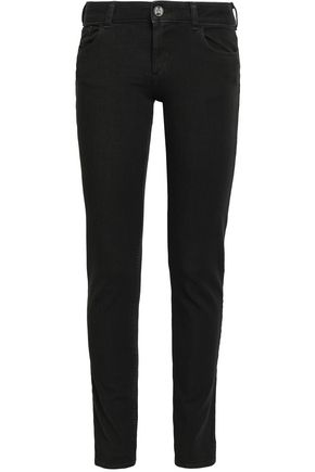 EMPORIO ARMANI Mid-rise slim-leg jeans