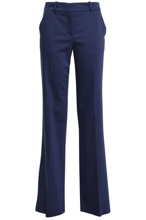 GIORGIO ARMANI Wool and silk-blend straight-leg pants