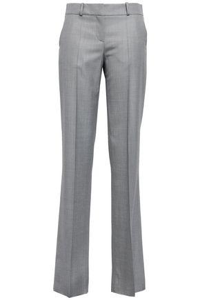 GIORGIO ARMANI Wool-piqué straight-leg pants