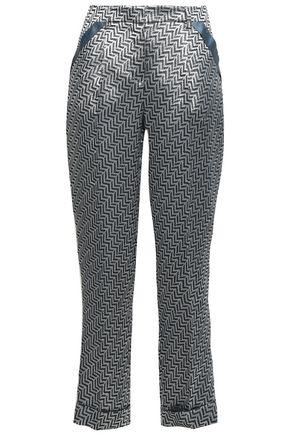 GIORGIO ARMANI Jacquard tapered pants