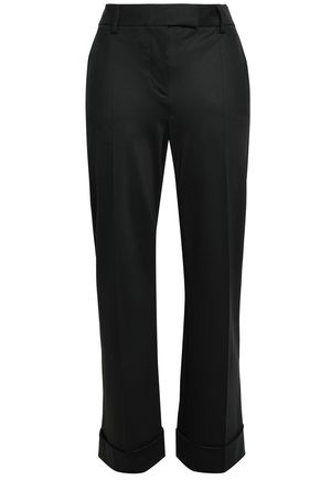 GIORGIO ARMANI Wool and cashmere-blend straight-leg pants