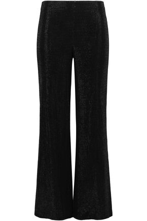 GIORGIO ARMANI Sequined woven wide-leg pants