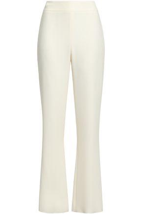 GIORGIO ARMANI Silk-crepe straight-leg pants
