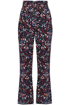 BAUM UND PFERDGARTEN Nora floral-print crepe bootcut pants
