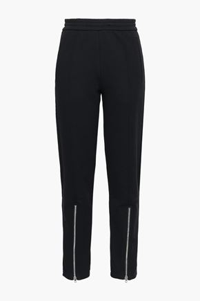 JOSEPH Zip-detailed cotton tapered pants
