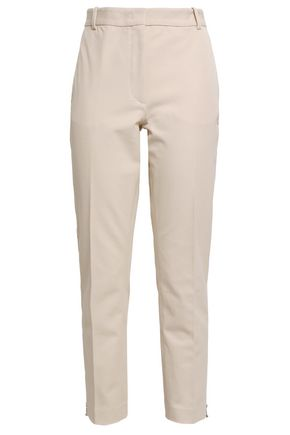 JOSEPH Zoomy cropped stretch-twill slim-leg pants