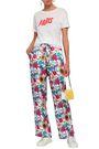 BAUM UND PFERDGARTEN Floral-print silk-jacquard straight-leg pants