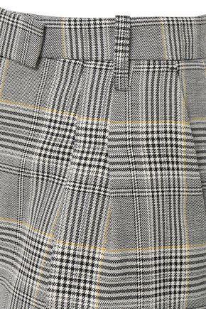 BAUM UND PFERDGARTEN Prince of Wales checked woven wide-leg pants