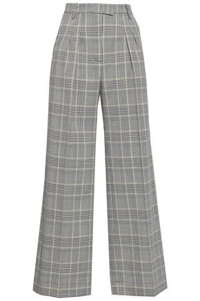 BAUM UND PFERDGARTEN Prince of Wales checked woven wide-leg pants