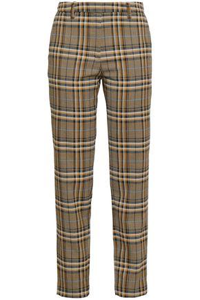 BAUM UND PFERDGARTEN Checked jacquard tapered pants