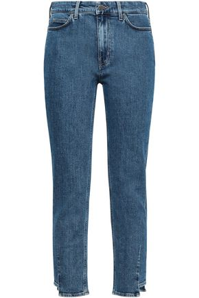 M.I.H JEANS Cropped high-rise slim-leg jeans