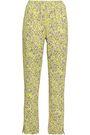 BAUM UND PFERDGARTEN Jody floral-print stretch-jersey straight-leg pants