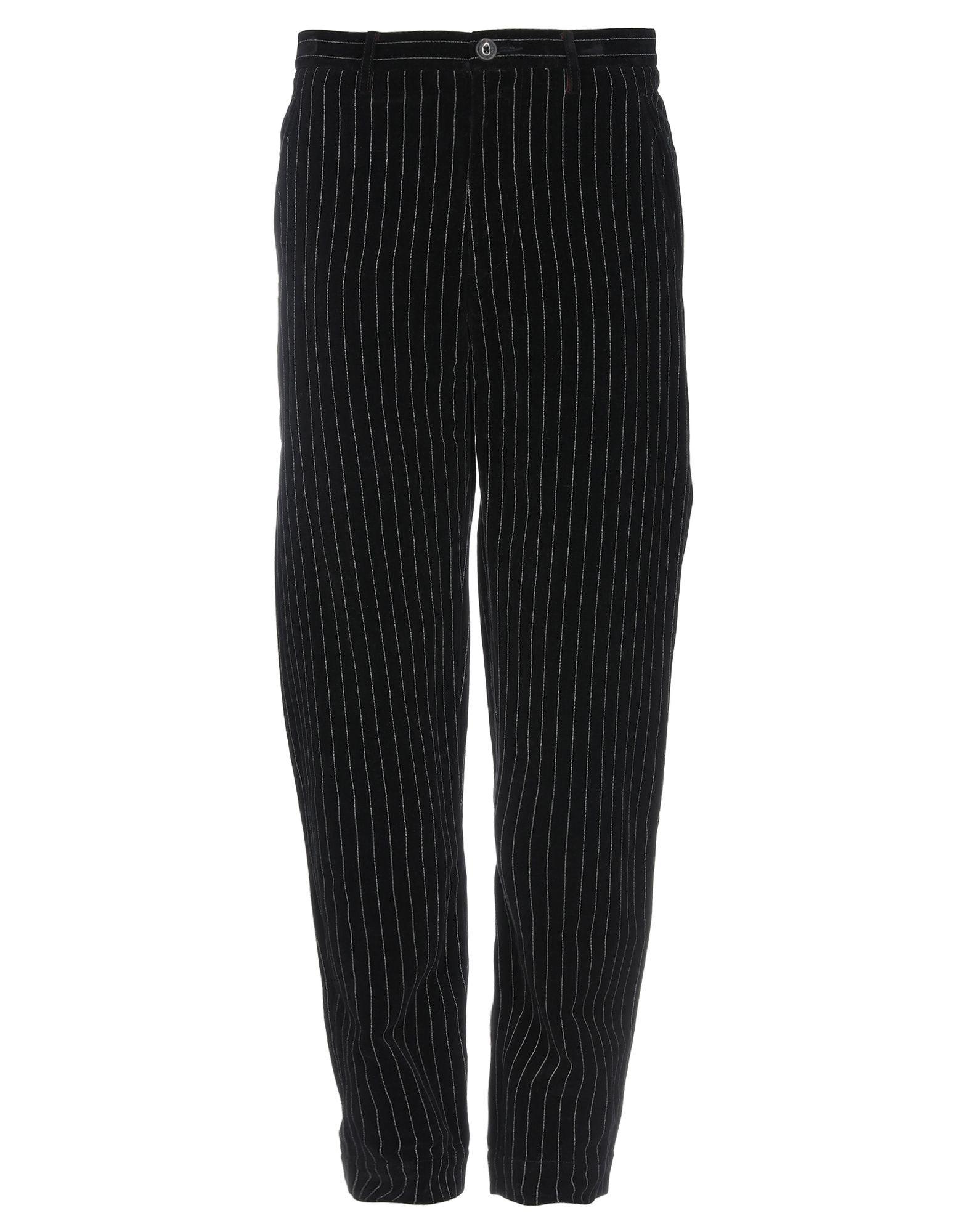 《送料無料》ZIGGY CHEN メンズ パンツ ブラック 48 コットン 55% / 麻 45%